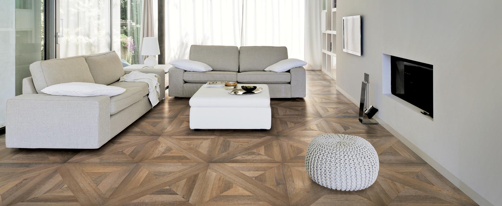 La Maison Du Parquet italian tiles that look like assembled parquet panels - mansion