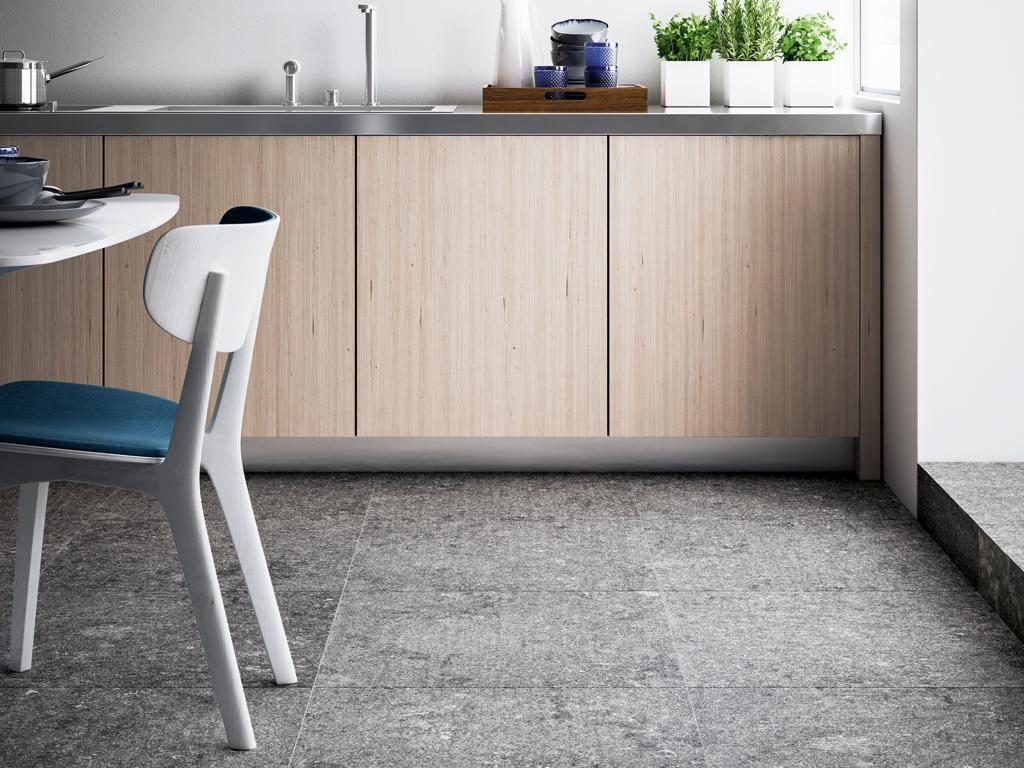 Kitchen Tiles Blue belgian bluestone look tiles - blue emotion